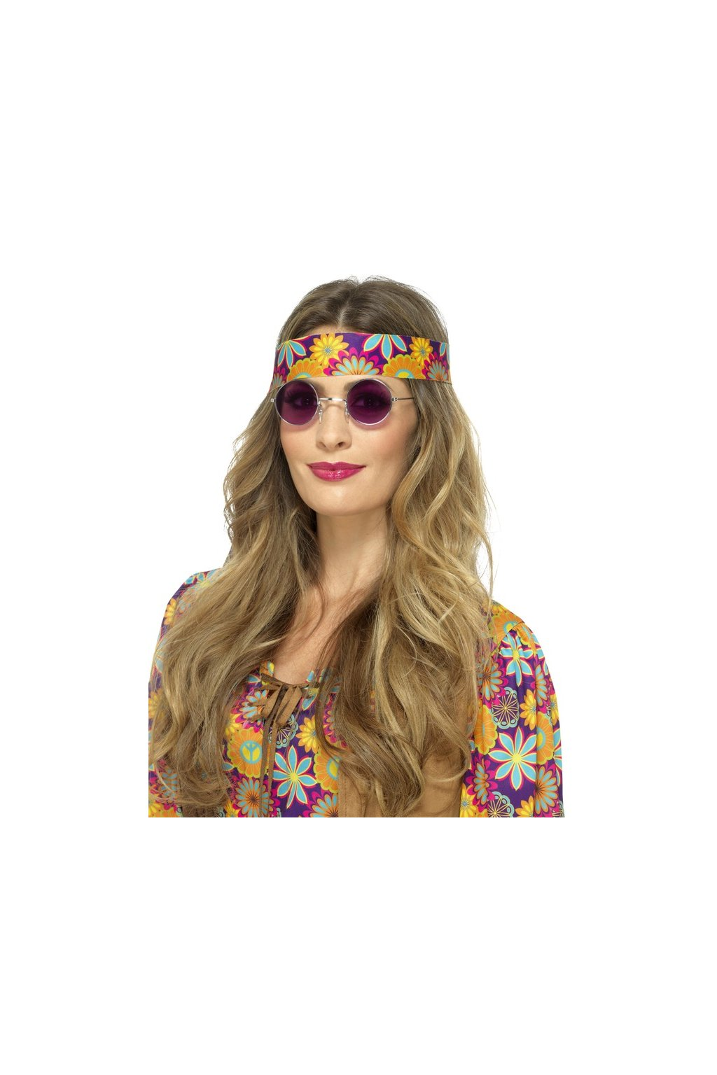 Brýle Hippie lenonky - fialové