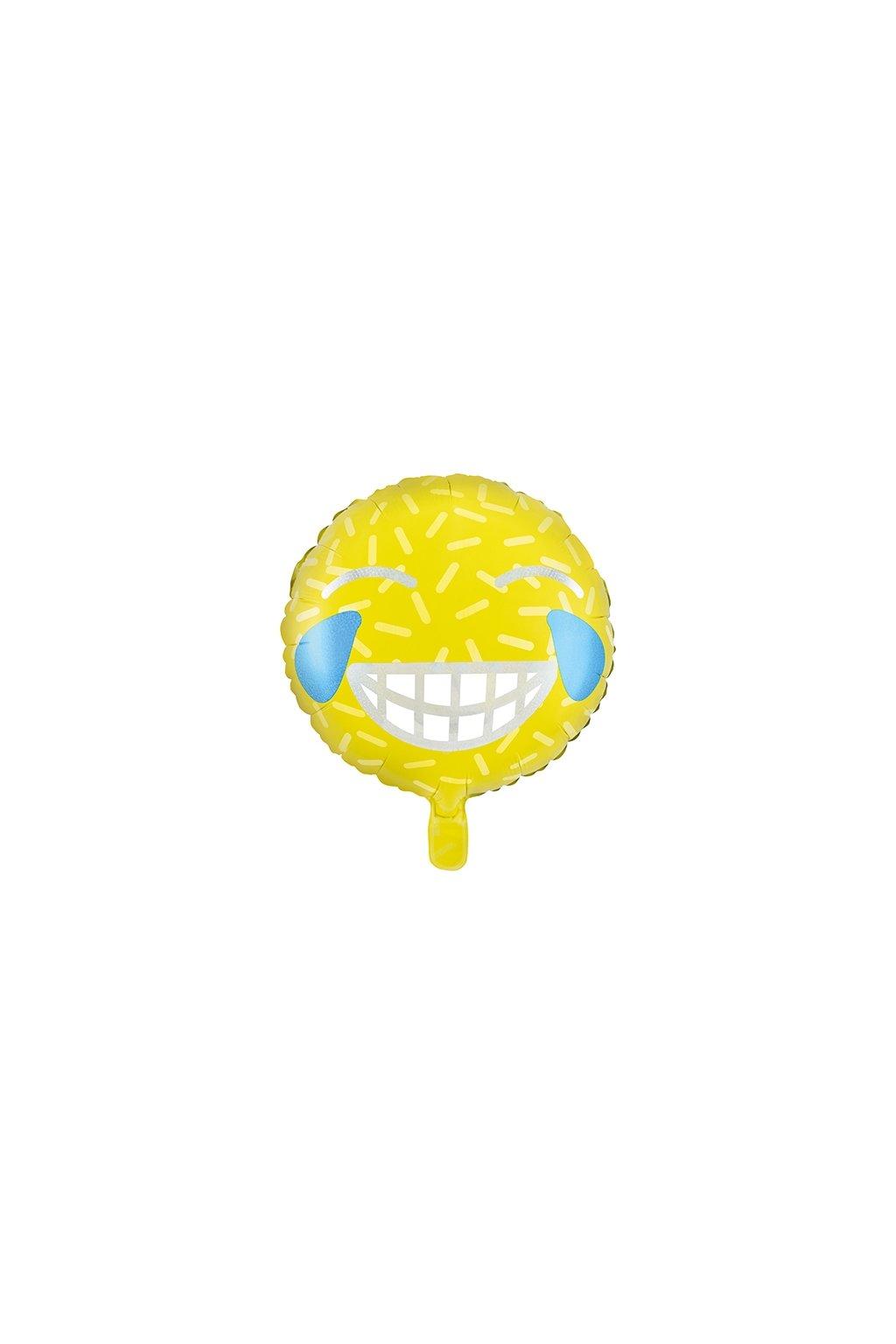 Smajlík smějící - foliový balónek