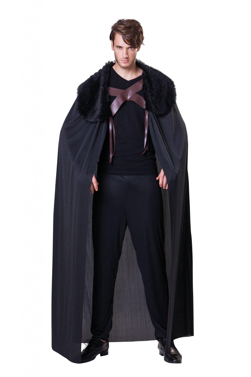 Černý plášt s kožešinovým límcem - hra o trůny