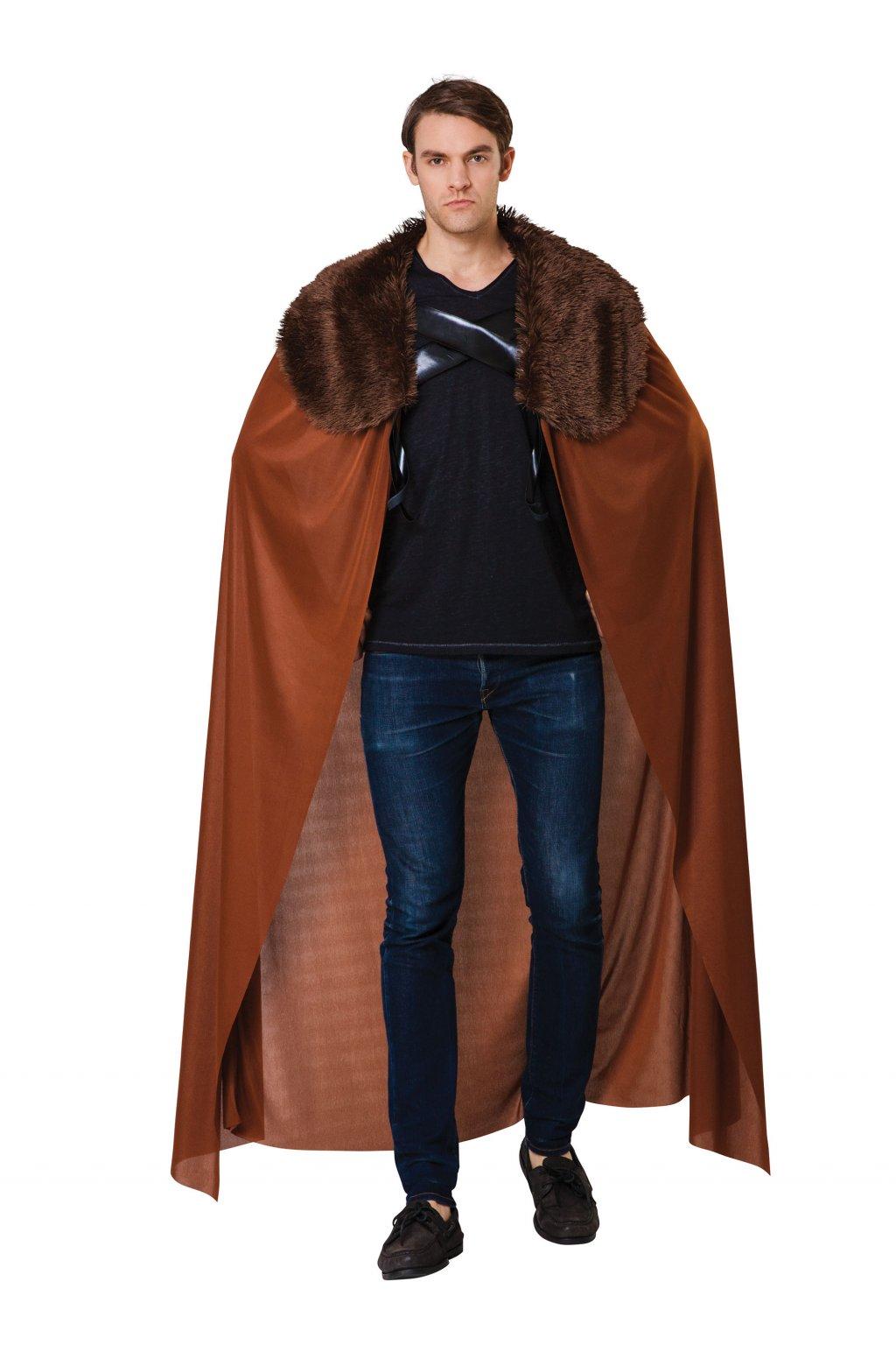 Hnědý plášt s kožešinovým límcem - hra o trůny