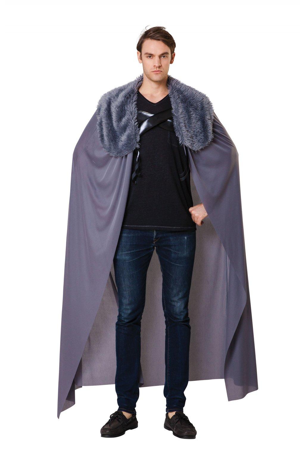 Šedý plášt s kožešinovým límcem - hra o trůny