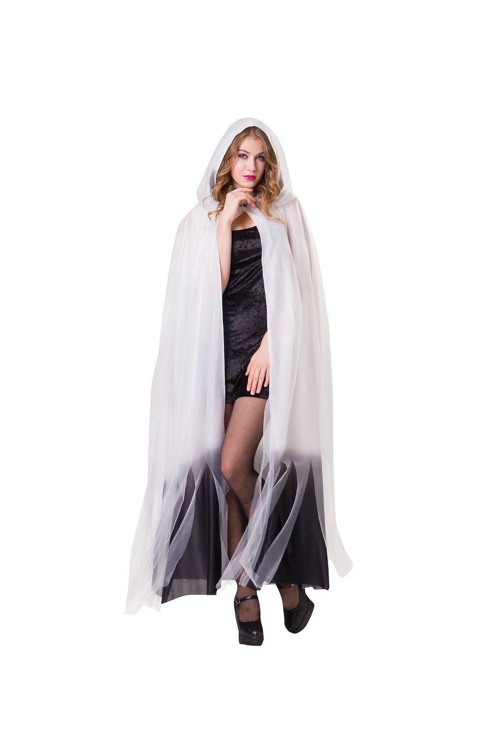 Duch - bílý plášt s kapucí