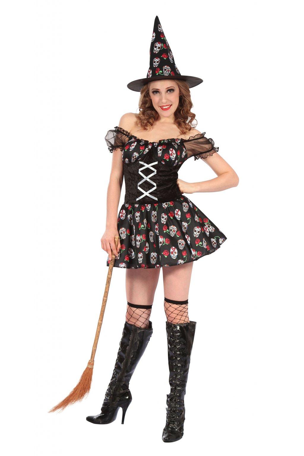 Dámský kostým čarodějnice Muerte - Den mrtvých (Day of the Dead)