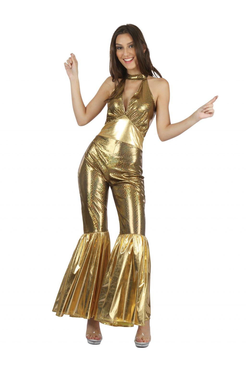 Disco - zlatý dámský kostým 80. letá
