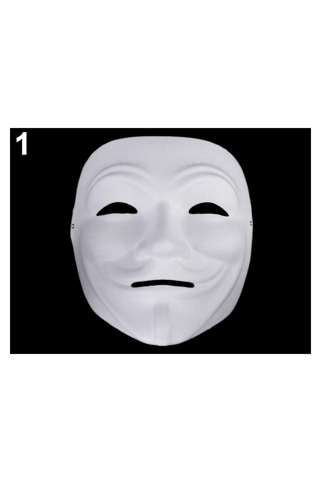 Anonymous - karnevalová maska - škraboška k domalování