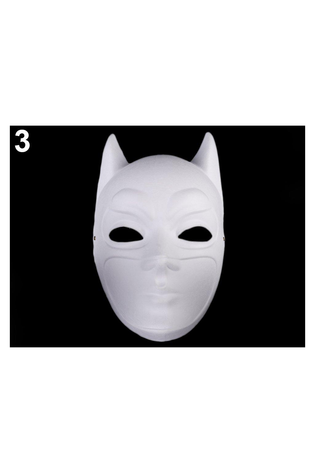 Batman - karnevalová maska - škraboška k domalování