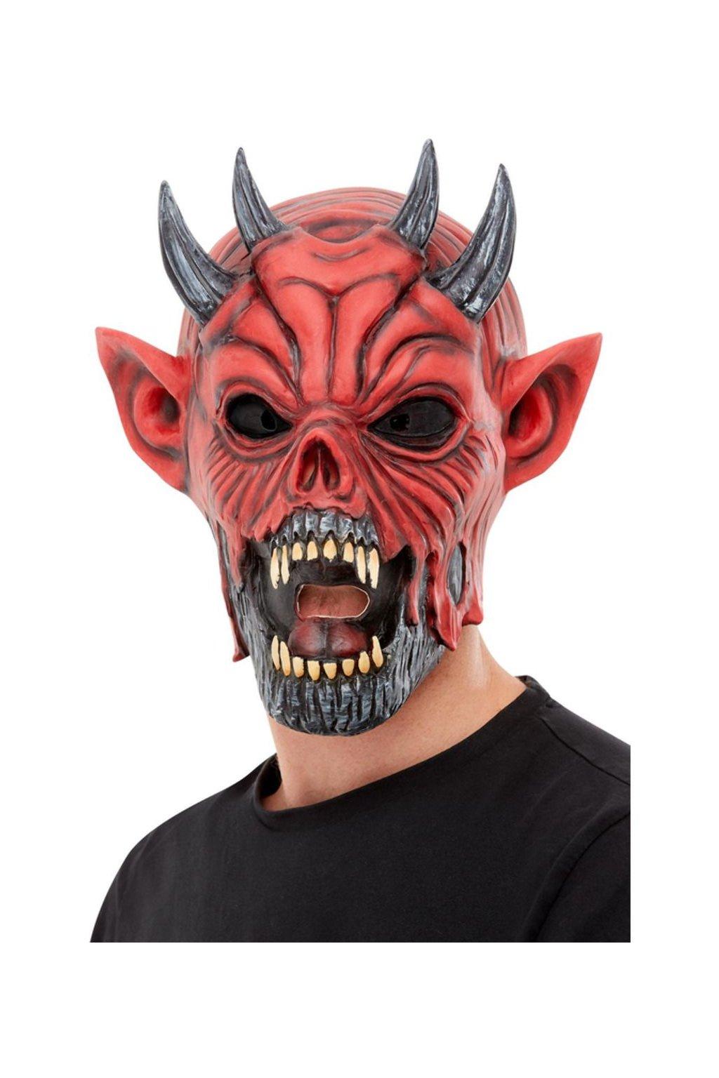 Čert - latexová maska ďábla
