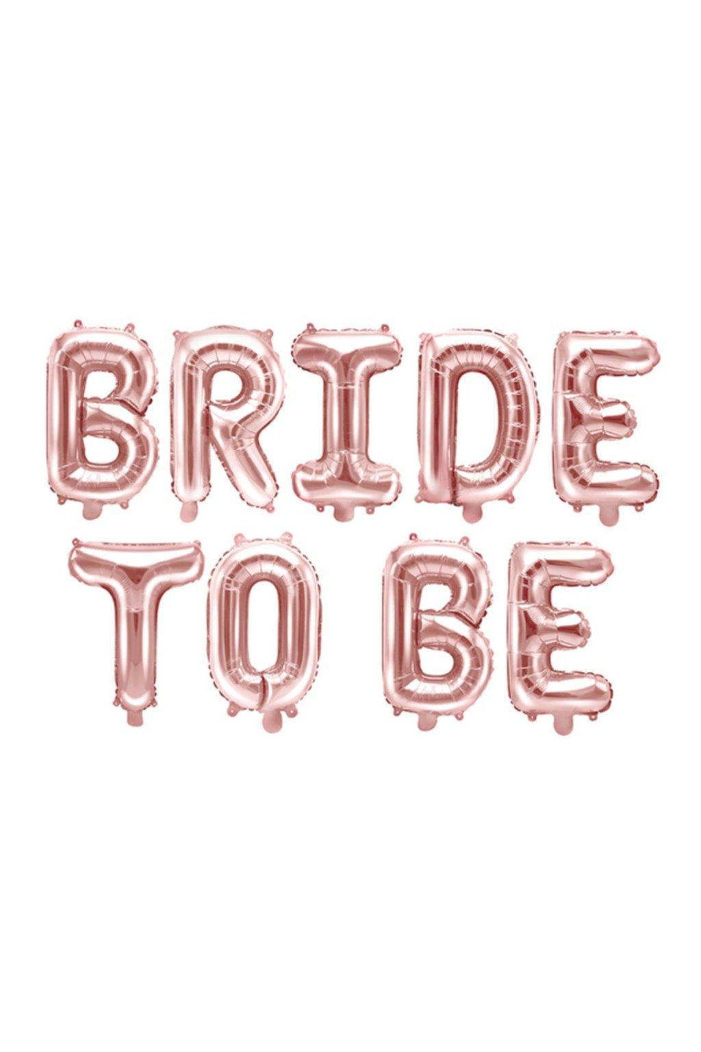BALONEK foliovy Bride to be ruzove zlato 1ks 55FB35M019R