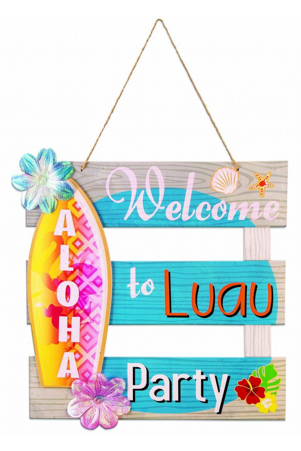 82734 STL Luau Decor Aloha Welcome Sign SFN