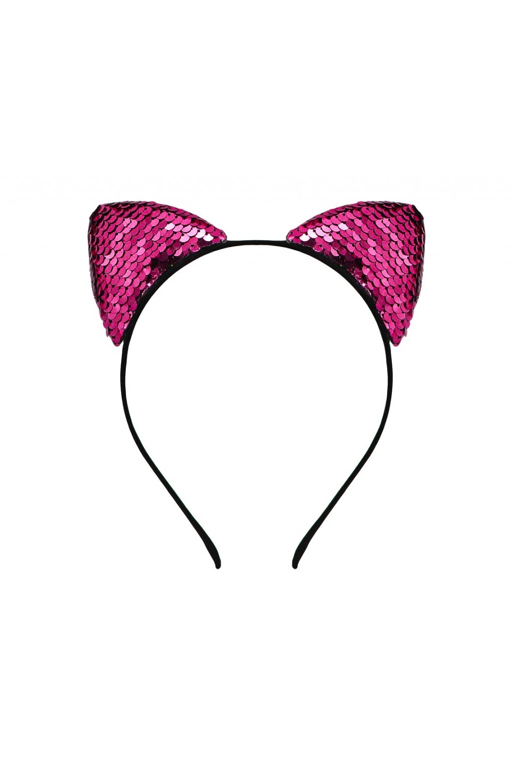 headband cat with sequins pink