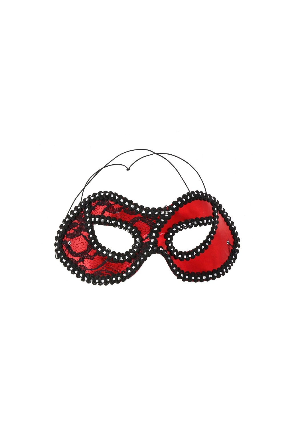 mask lady with lace red