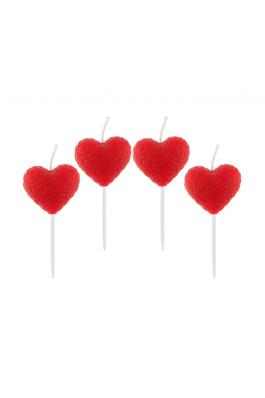 pick candles hearts 4 pcs