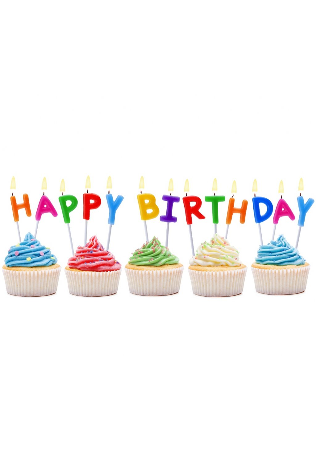 pick candles letters happy birthday
