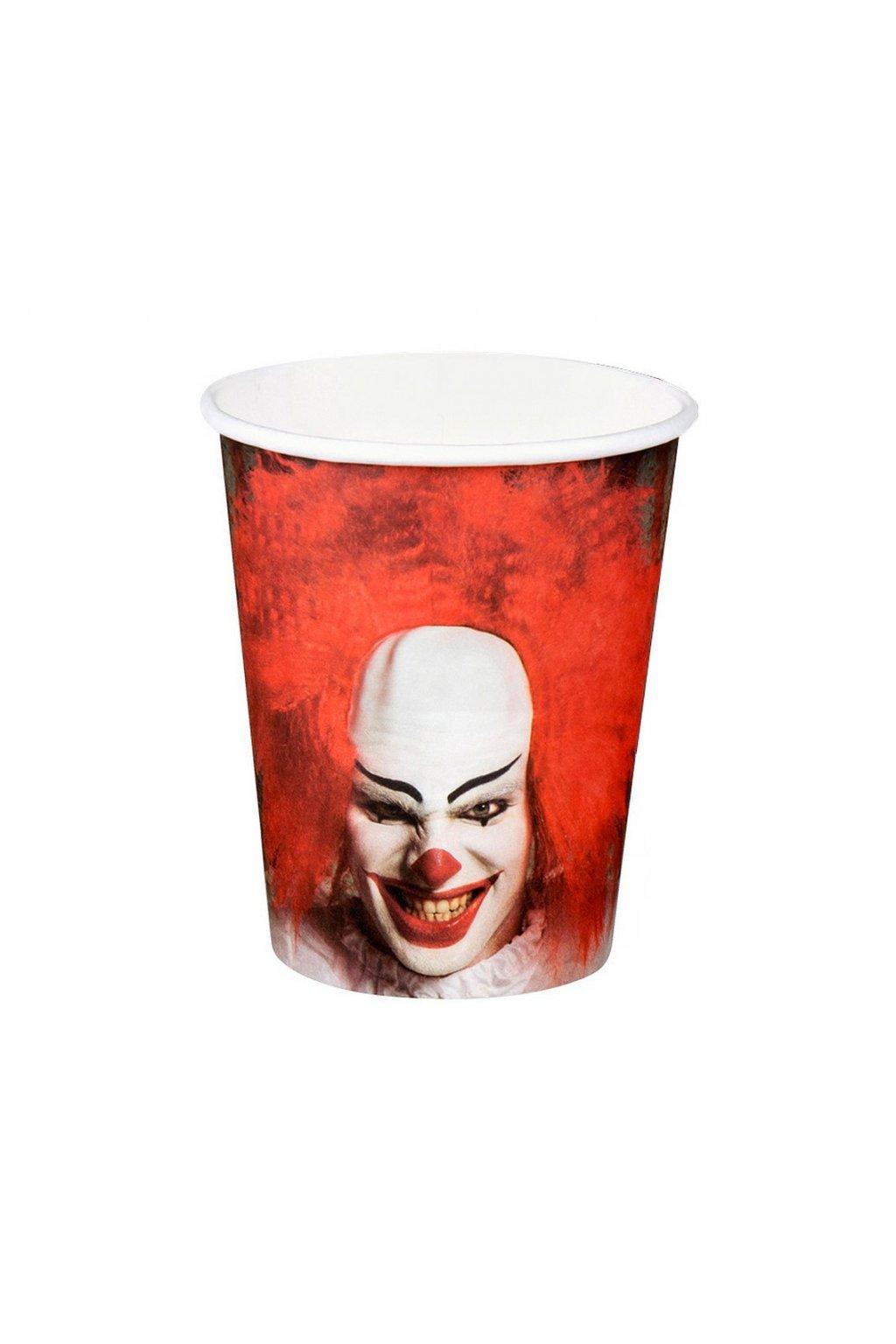 paper cups horror clown 250 ml 6 pcs