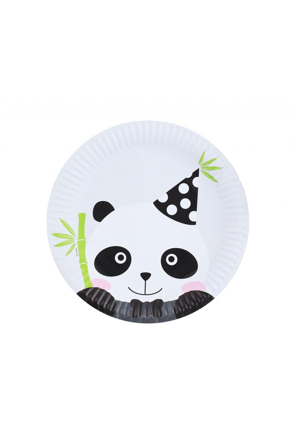 paper plates panda 18 cm 6 pcs