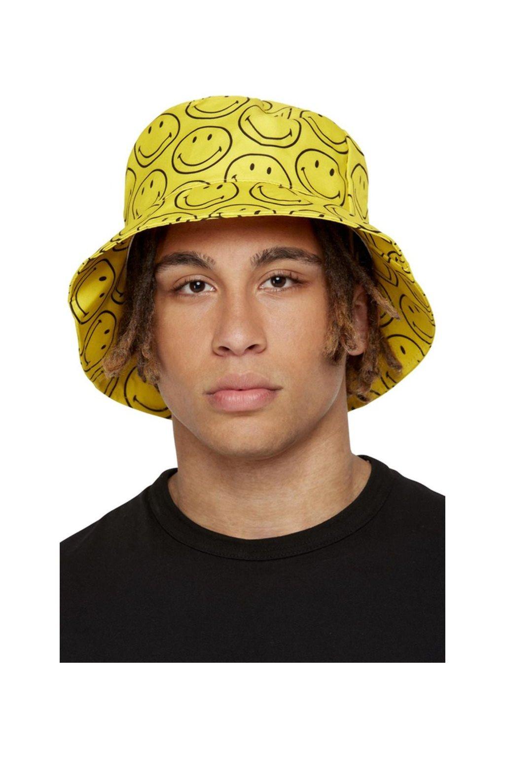 Žlutý klobouk se smajlíky - Bucket Hat originál Smiley