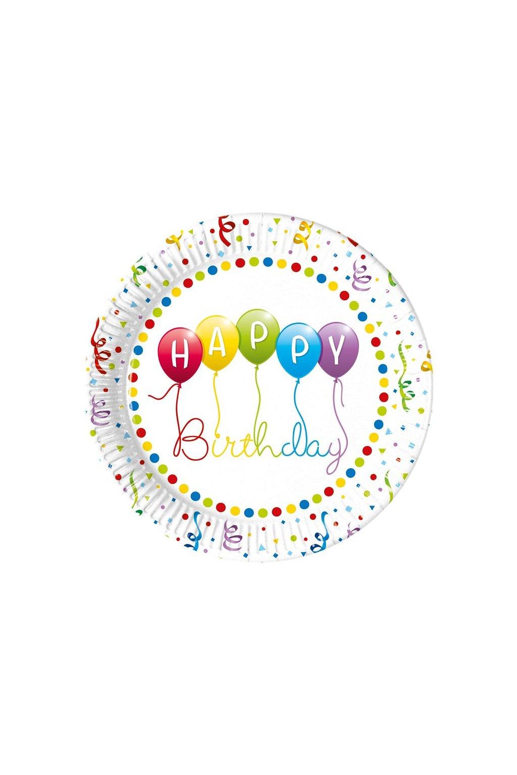 talerzyki papierowe urodzinowe happy birthday str