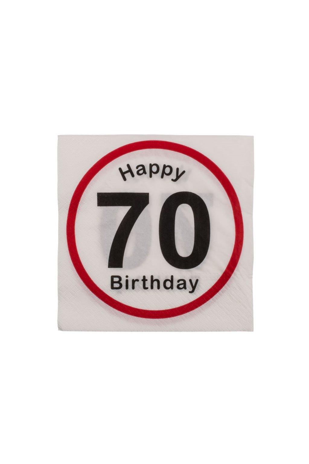 Narozeninové ubrousky - Happy Birthday 70