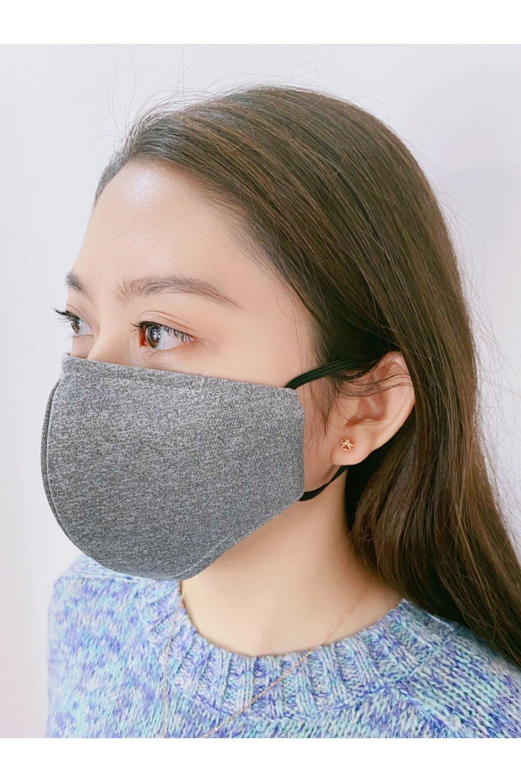 Ochranná rouška bavlněná komfortní - šedá