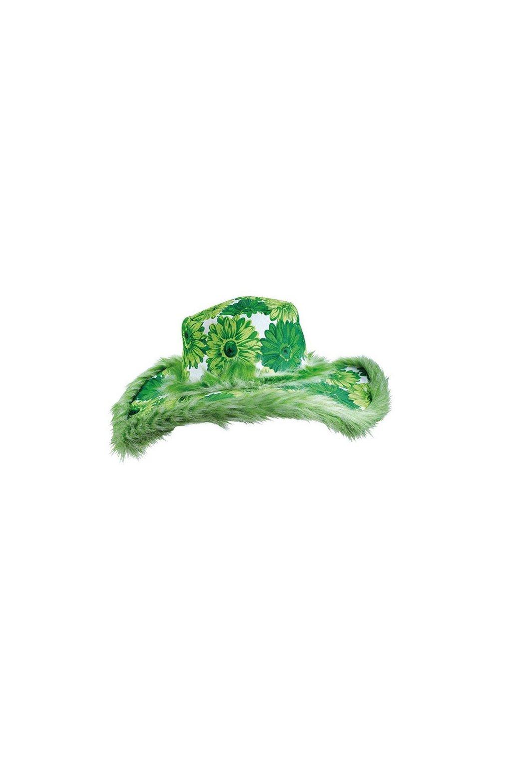 klobouk zeleny s kvety 4 465606 ru