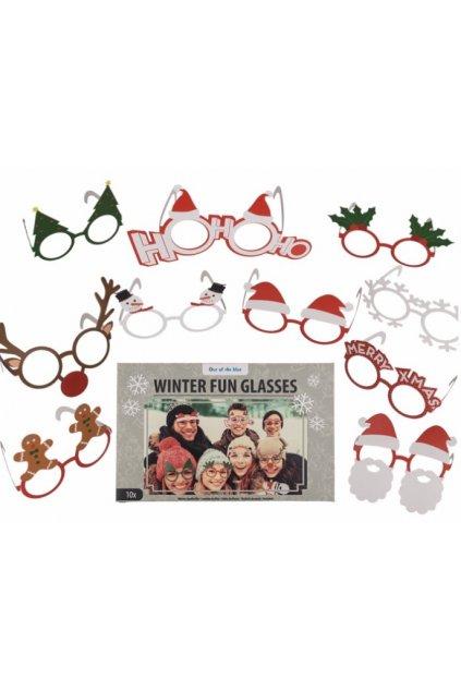 Papírové vánoční brýle 10ks