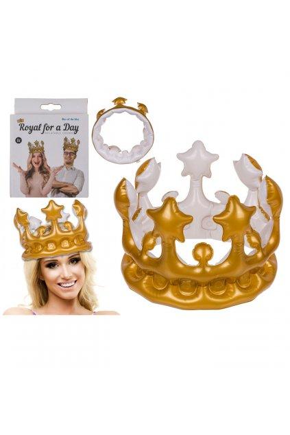 Královská koruna zlatá - nafukovací