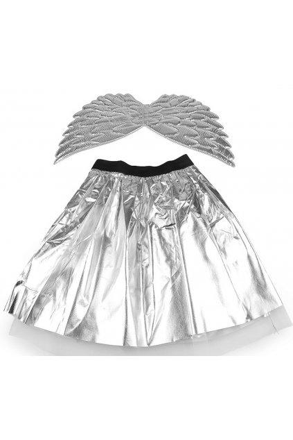 Stříbrný anděl - dětský kostým