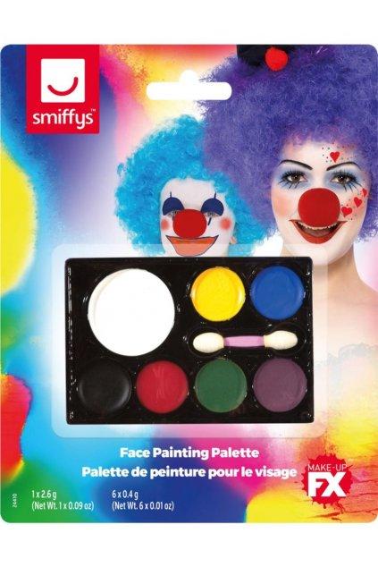 Barevná paleta na tvář - makeup