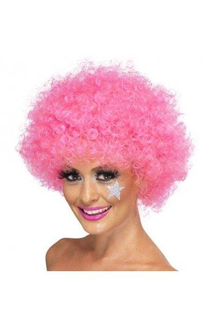 Afro paruka - růžová