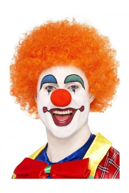 Afro paruka oranžová - klaunská paruka