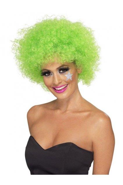 Zelená afro paruka