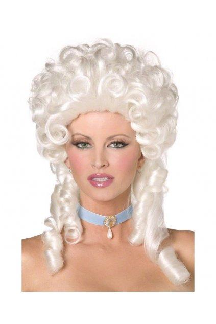 Baroko - bílá dámská paruka