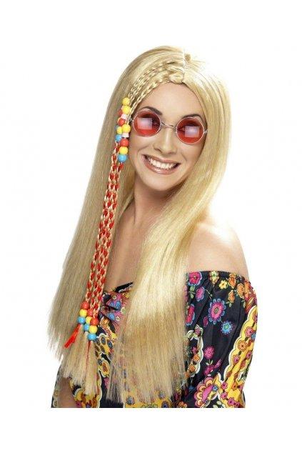 Dlouhá blond hippy paruka