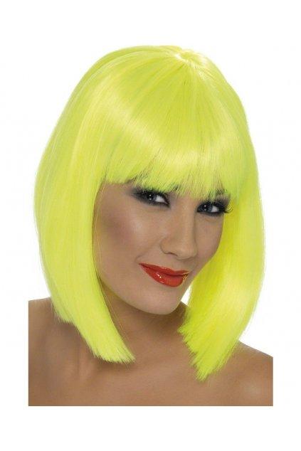 Paruka Glam žlutá