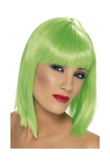 Neon zelená paruka