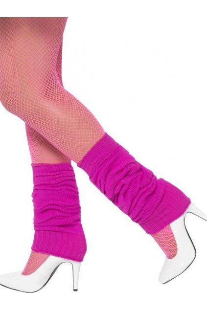 Návleky na nohy neonově růžové