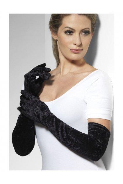Dlouhé sametové rukavice