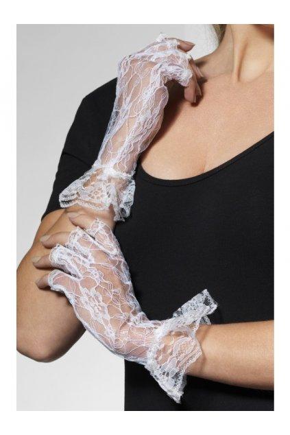 Krajkové rukavice bílé
