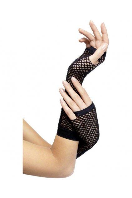 Černé síťované rukavice