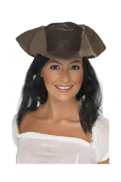 Pirátský klobouk s vlasy
