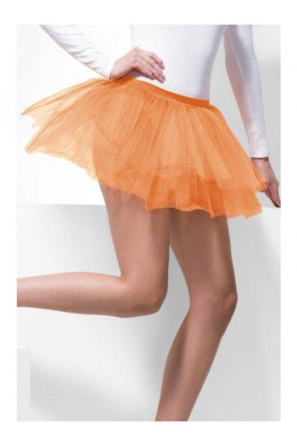 Sukně neonová oranžová