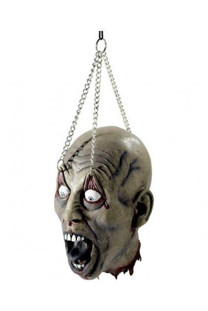 Useknutá hlava na řetězu