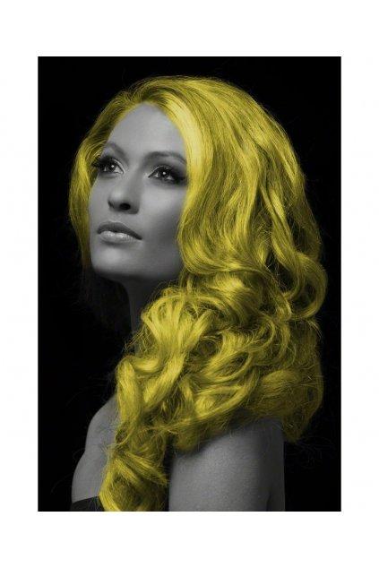 Žlutý sprej na vlasy