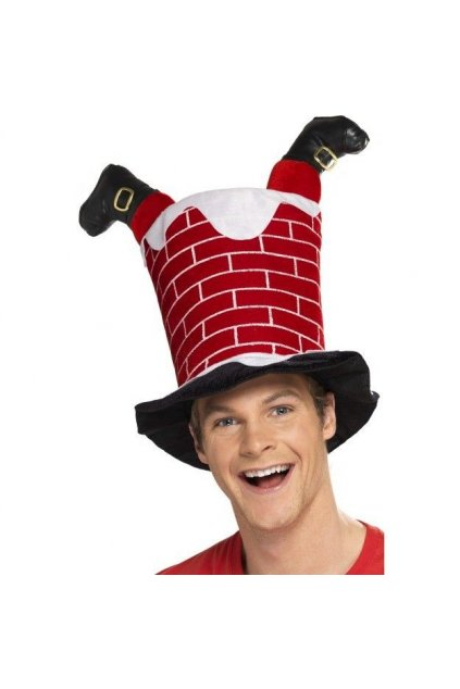Santa v komíně čepice