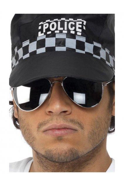 Policejní brýle stříbrné