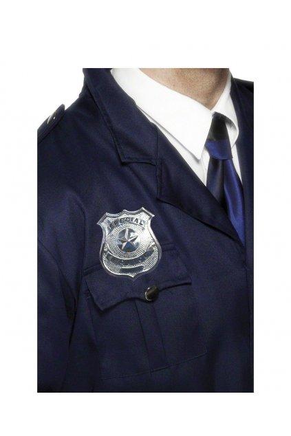 Kovový policejní odznak
