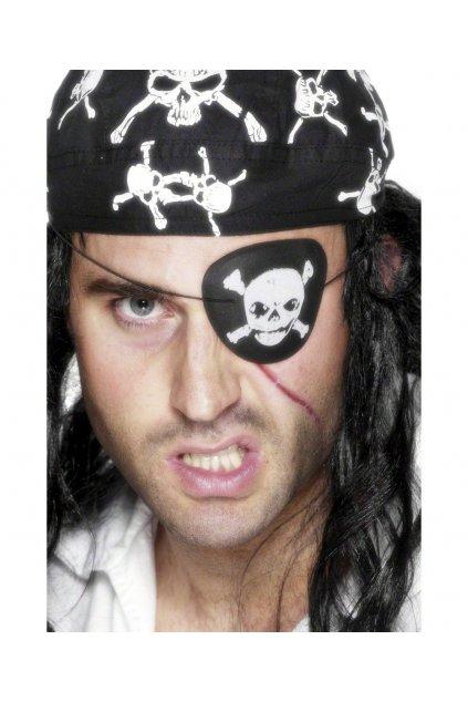 Pirátská záslepka - s lebkou