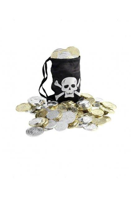 Pirátský měšec s mincemi