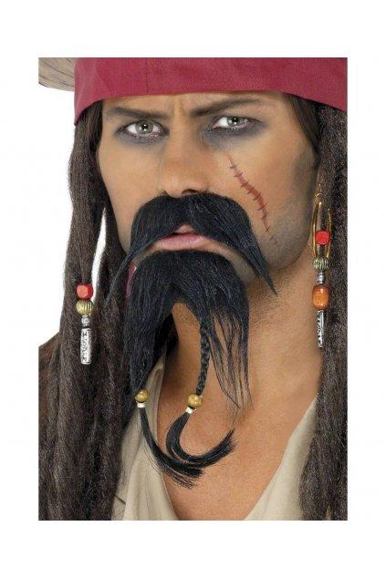 Pirátský knír a bradka