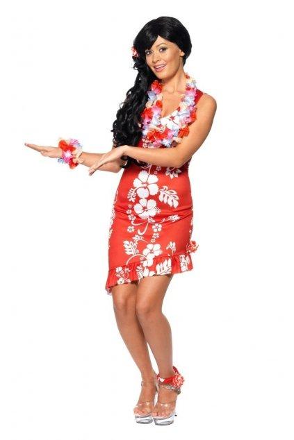 Kostým Havajská dívka - červená